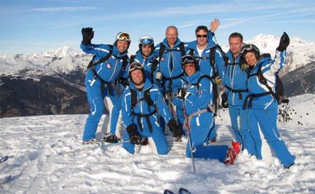 """מדריכי סקי, צילום: יח""""צ"""