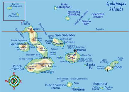 מפת איי גלפגוס