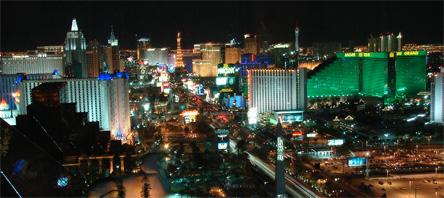 האורות של לאס וגאס בלילה. צילום: sxc.hu