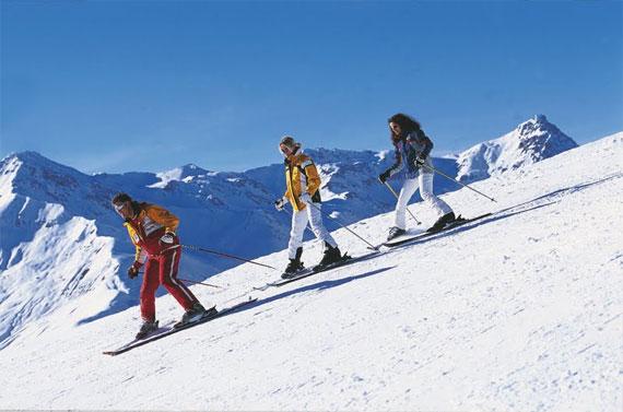 """עושים סקי. צילום: יח""""צ"""